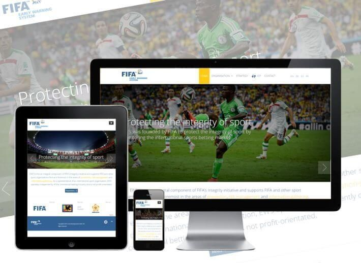 Webdesignagentur in Zürich Website Design für FIFA EWS